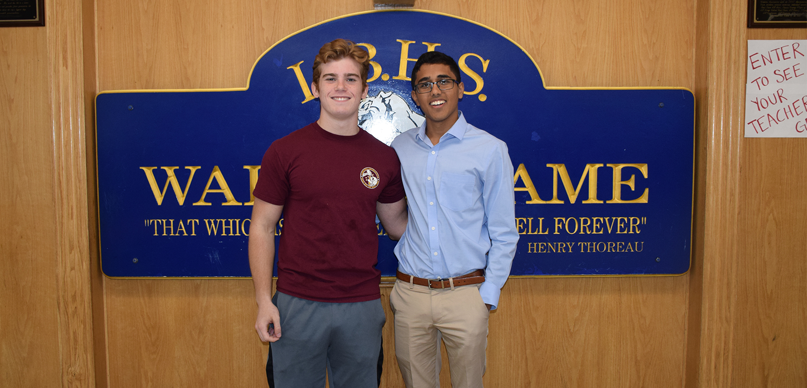 Arjun Gupta and Hayden Henry Lead the LBHS Class of 2020 photo