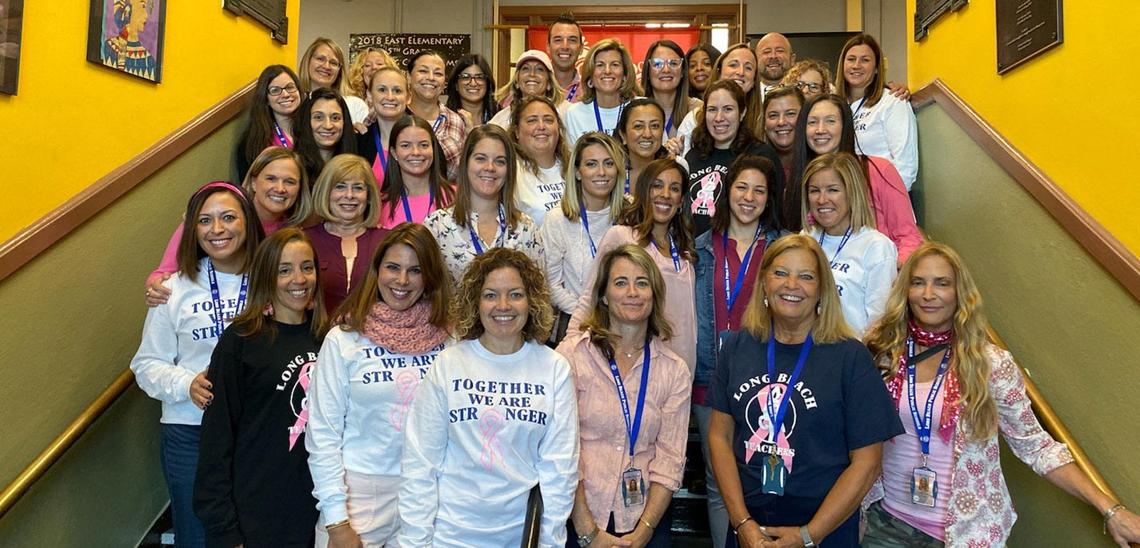 LB Staff Members Go Pink for Cancer Fundraising photo