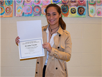 LB Board Meeting Honors Scholar Artist photo
