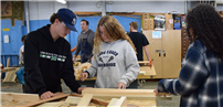 Community Service in the Works in LBHS Wood Shop photo thumbnail138562